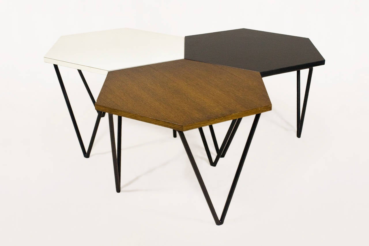 Series of Three Gio Ponti Modular Coffee Tables, circa 1950 Italy 2