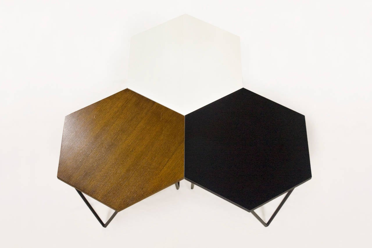 Series of Three Gio Ponti Modular Coffee Tables, circa 1950 Italy ...