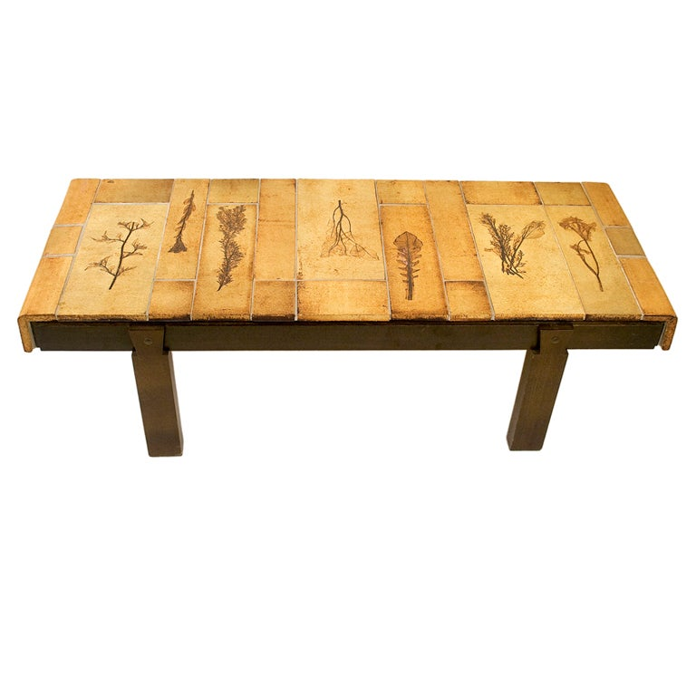 Ceramic Coffee Table By Roger Capron For Sale