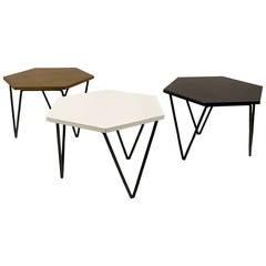Series of Three Gio Ponti Modular Coffee Tables, circa 1950 Italy