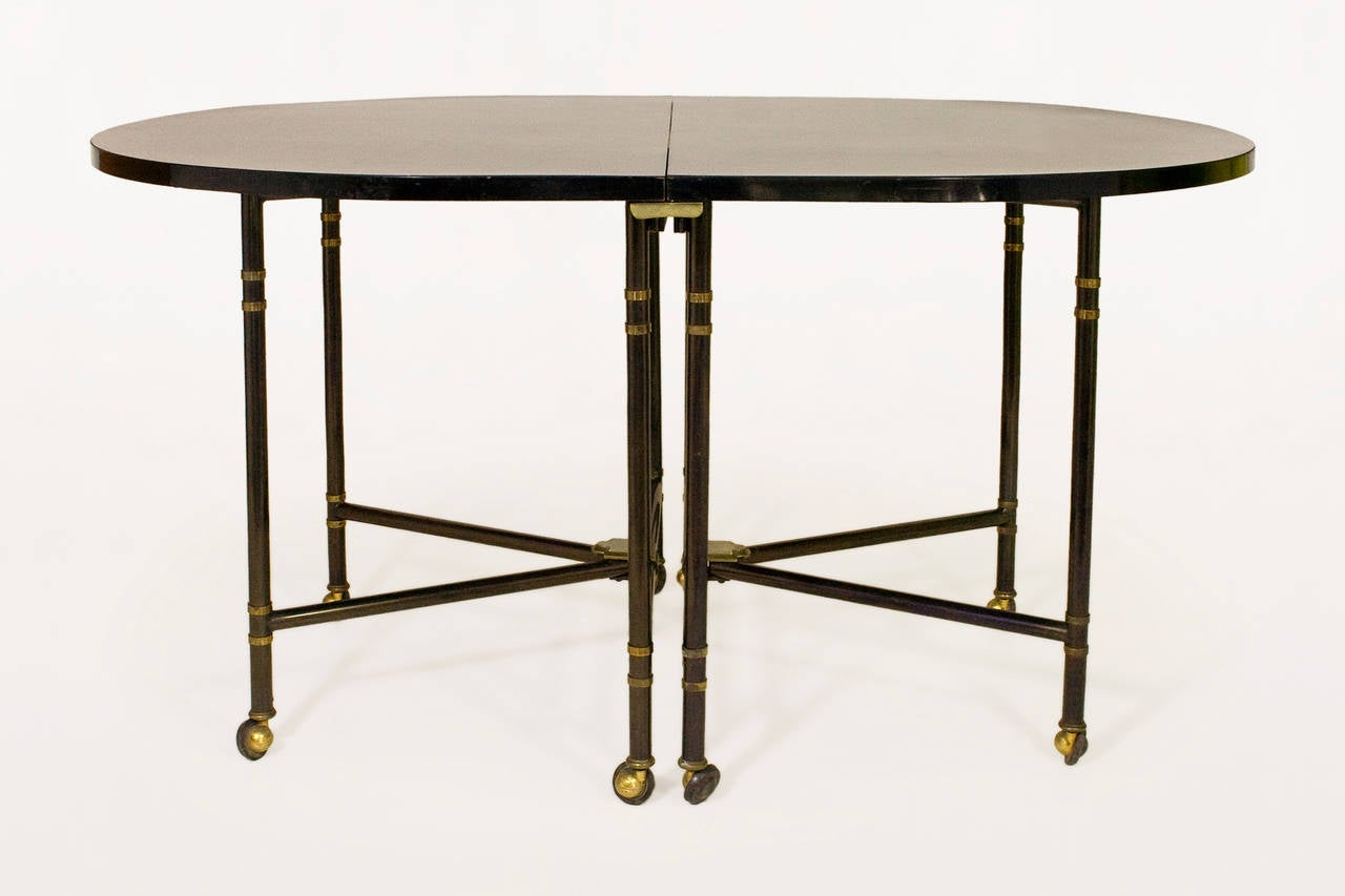Expandable Maison Jansen quotRoyalequot Dining Table France  : TA0031aLl from www.1stdibs.com size 1280 x 853 jpeg 58kB