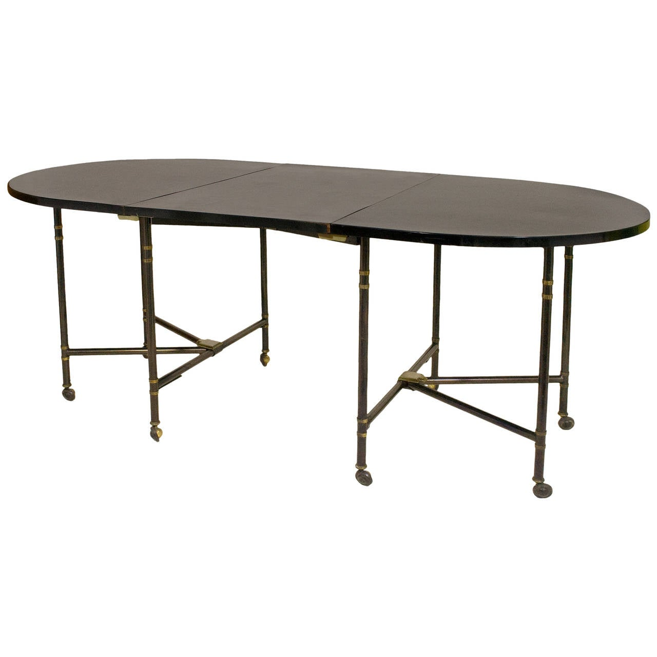 Expandable maison jansen royale dining table france for Royal dining table