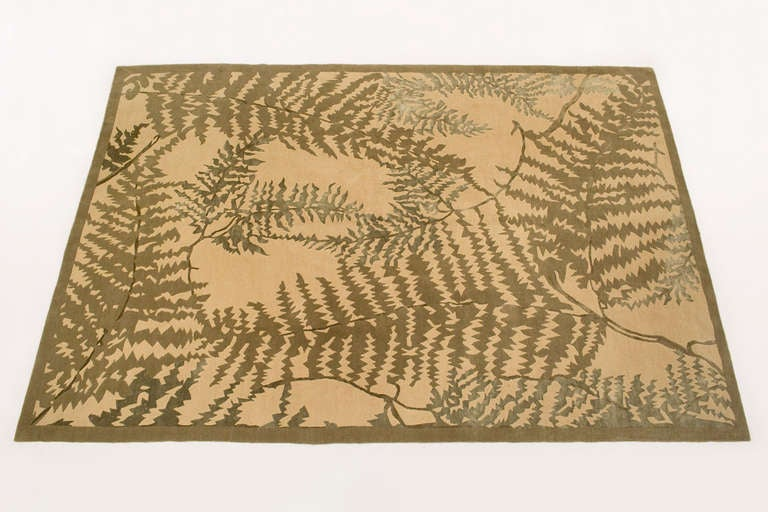 Carpet Quot Fern Leaves Quot By Frank Lloyd Wright At 1stdibs