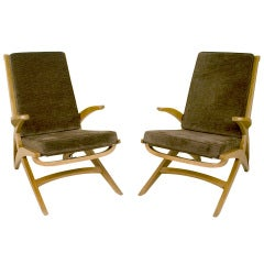 Pair of André Sornay Armchairs