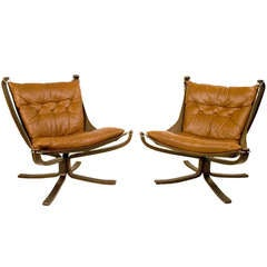 """Pair Of """"Falcon"""" Armchairs By Sigurd Resell, circa 1970. Norway"""