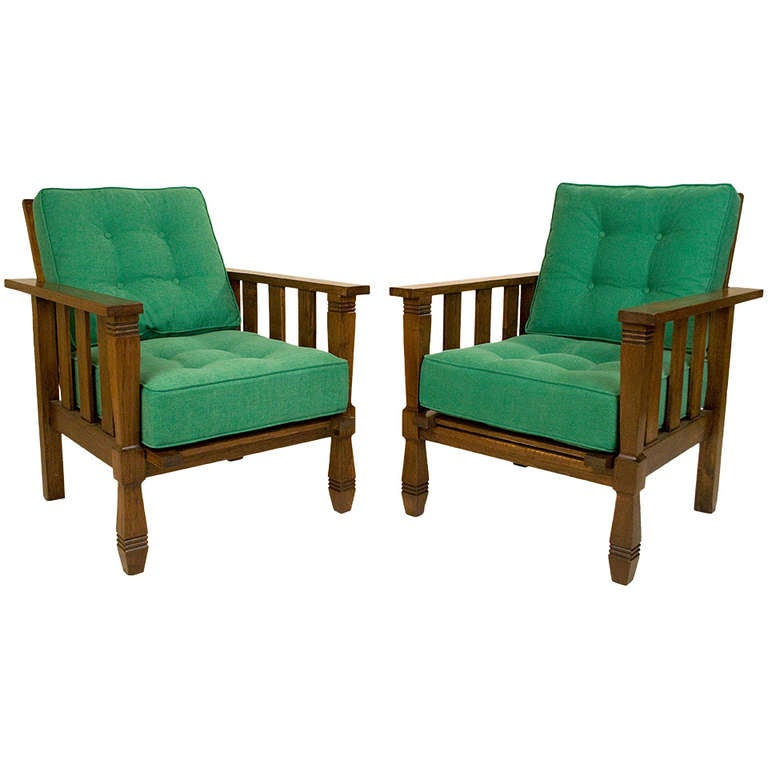 Pair of William Morris Armchairs circa 1920 France at 1stdibs