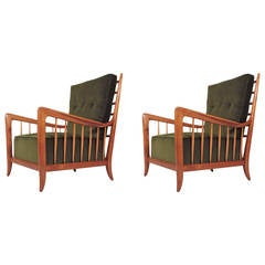 Magnificent Pair of Italian Armchairs