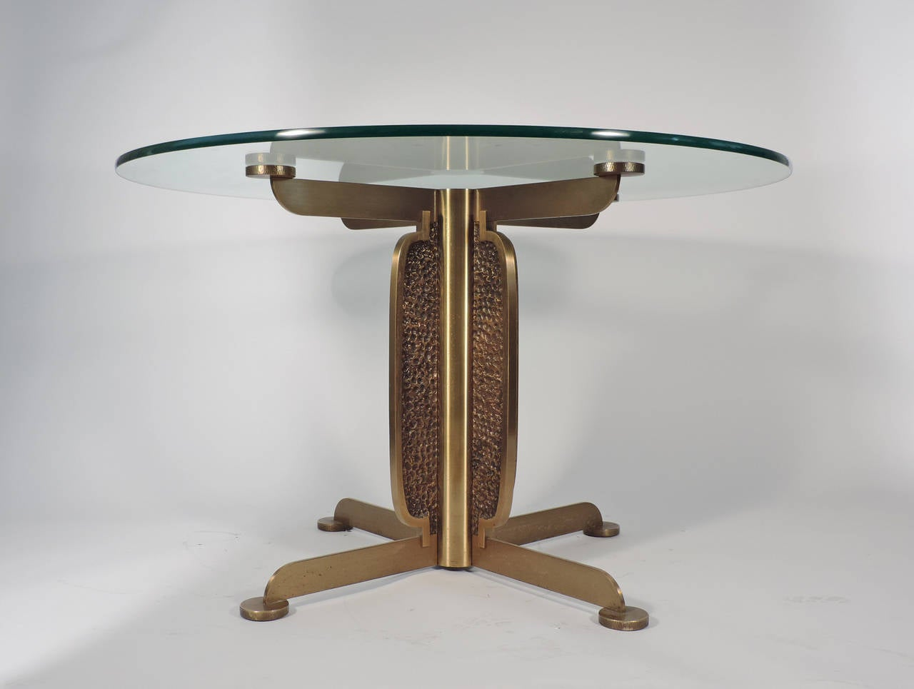 Spectacular luciano frigerio brutalist dining table for for Table 52 oak brook