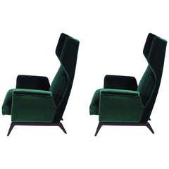 A Breathtaking Pair Of Italian 1950's Armchairs
