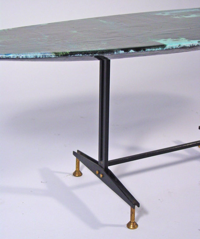 Mid-20th Century Magnificent Italian 1950's ceramic coffee table