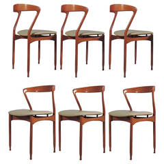 Splendid Set of Six Surreal Dining Chairs