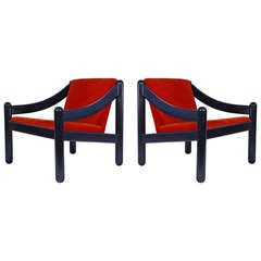 "Pair of ""930"" Armchairs by Vico Magistretti for Cassina"
