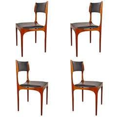 Four Giuseppe Gibelli chairs for Sormani
