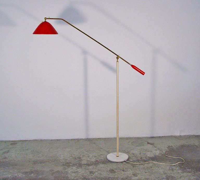 Beautiful articulating stilnovo floor lamp at 1stdibs for Beautiful floor lamps