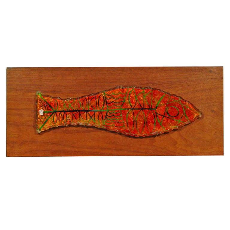 """Erwin Walter Burger """"Fish"""" Wall Panel"""