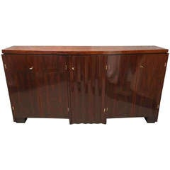 1930s Walnut France Art Deco Sideboard