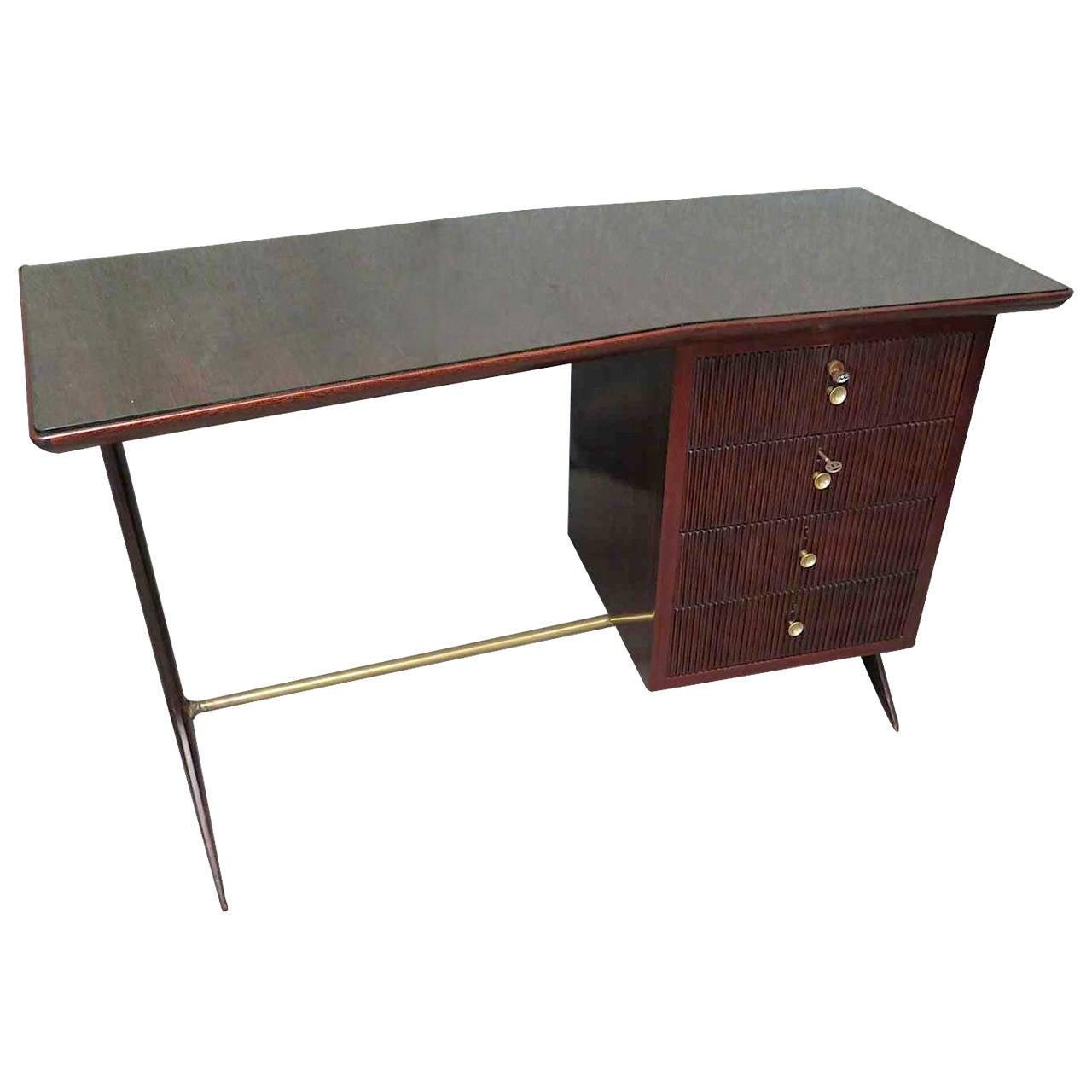 Ico Parisi 1950 Square Midcentury Writing Tables