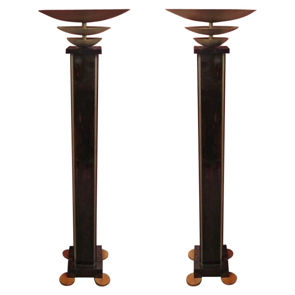 this pair of italian art deco floor lamps is no longer available. Black Bedroom Furniture Sets. Home Design Ideas