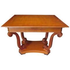 1900 Rectangular Cherrywood Austrian Art Nouveau Sofa Table