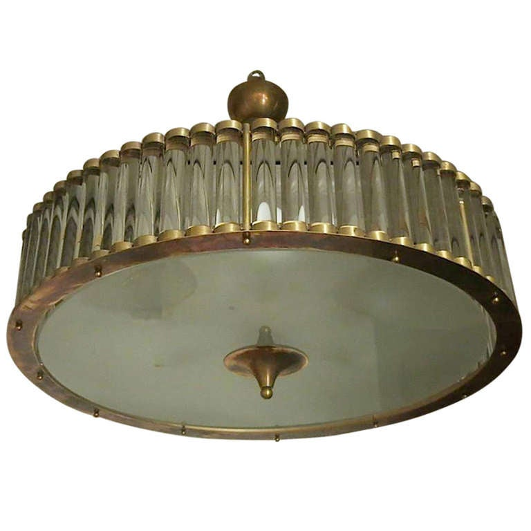 A Very Stylish Art Deco Chandelier At 1stdibs