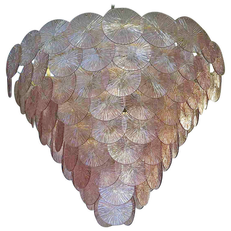 Murano Chandelier 1970s Amethyst Color For Sale At 1stdibs