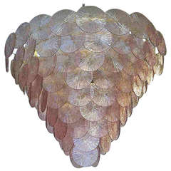 Murano Chandelier, 1970s Amethyst Color