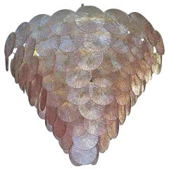 1970 Murano Round Amethyst color Chandelier