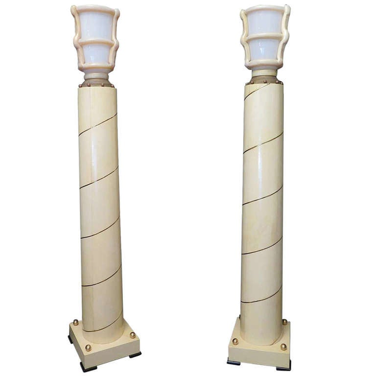 Pair of Very Special Floor Lamps For Sale at 1stdibs