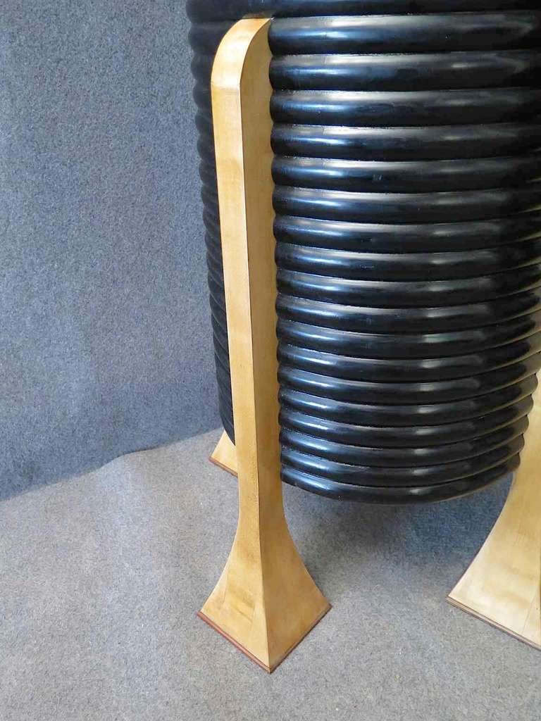 Pair of Black French Art Deco Columns 4