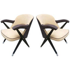 Pair of Small Armchairs from Movies