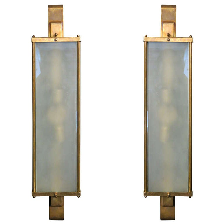 pair of murano sconces at 1stdibs