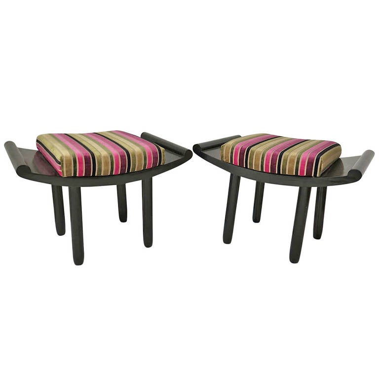 Pair of 1930s French Art Deco Benches