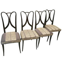 Four 1930 Guglielmo Ulrich Italian Art Deco Chairs