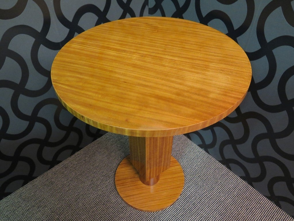 Pair of 1930 Cedar Wood Art Deco Side Tables 3