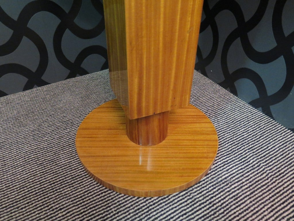 Pair of 1930 Cedar Wood Art Deco Side Tables 5