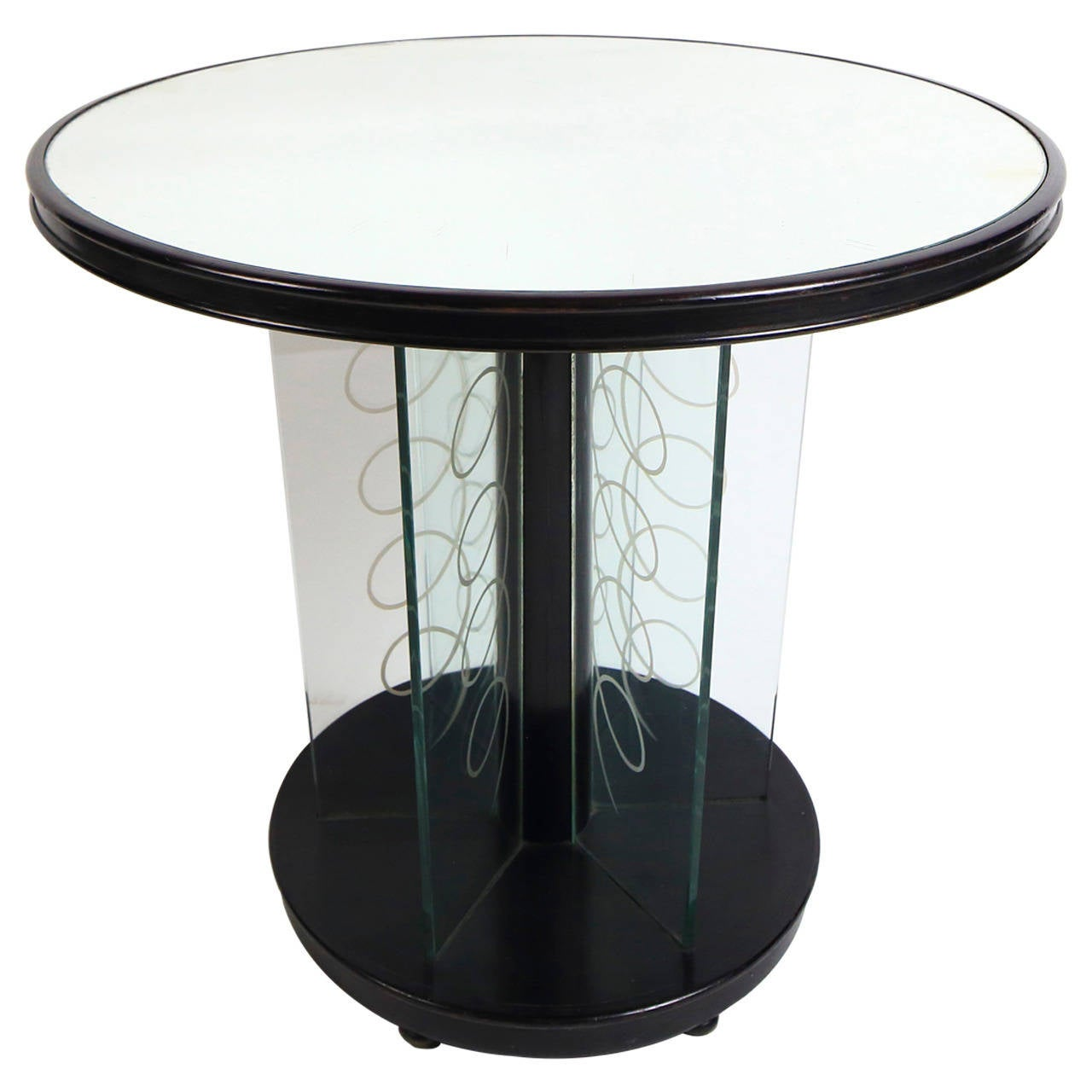 Art deco side table wood and glass by brusotti milano italy art deco side table wood and glass by brusotti milano italy1930s geotapseo Images