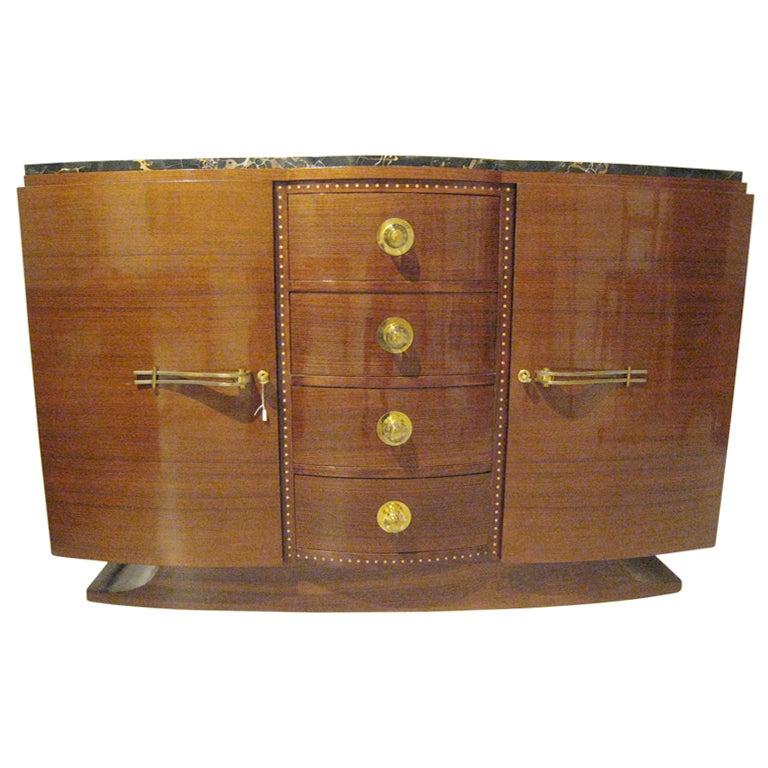Art Deco Exotic Wood Sideboard At 1stdibs