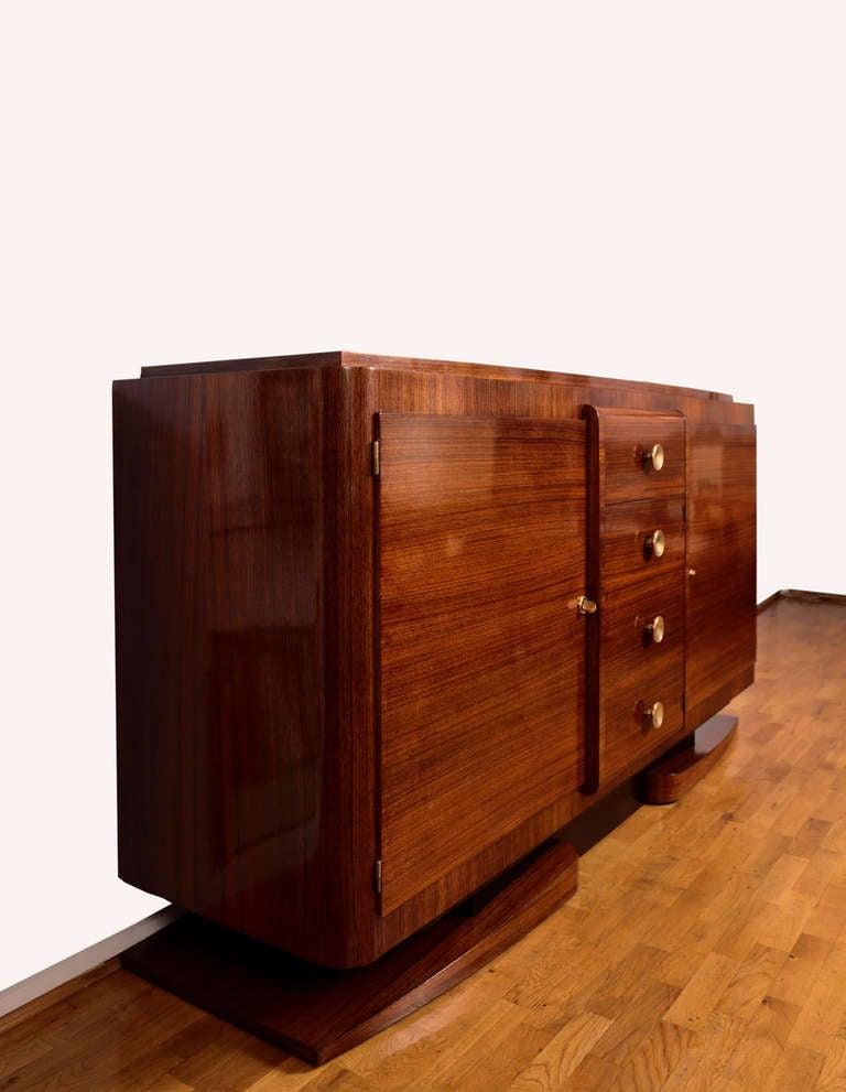 rosewood art deco sideboard 1930s at 1stdibs. Black Bedroom Furniture Sets. Home Design Ideas