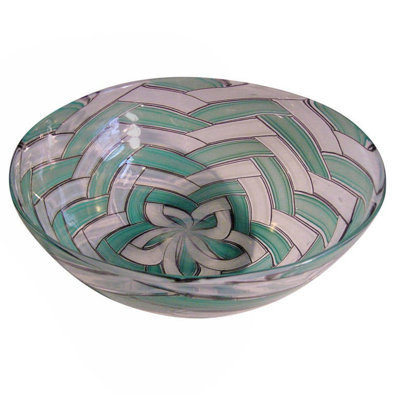 "Stunning Murano Glass Bowl ""A Spina"" by Ercole Barovier, 1958"