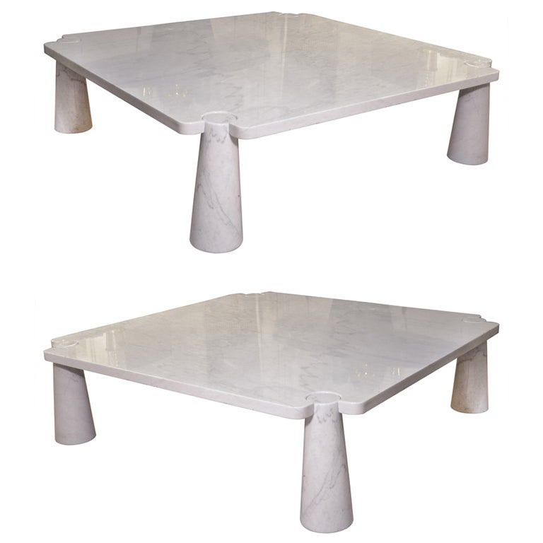 Marble Coffee Table Kijiji Calgary: Pair Of Marble Coffee Tables By Mangiarotti At 1stdibs