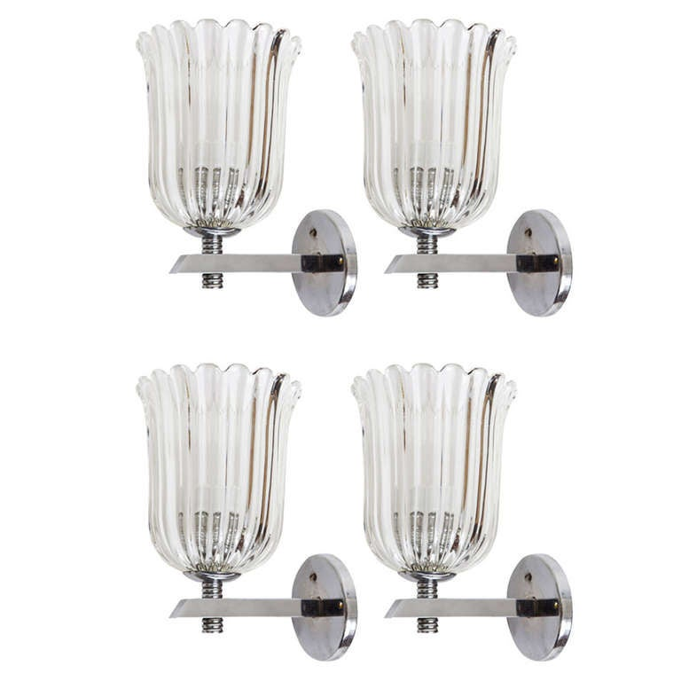 Murano Glass Wall Sconces : Four Murano Glass 1930 s wall sconces. at 1stdibs