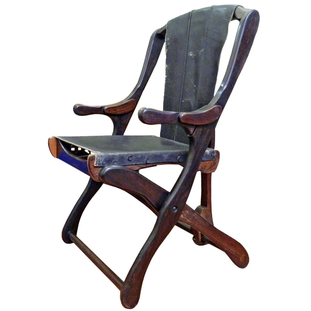 Don Shoemaker Sling Dining Folding Chair Cocobolo at 1stdibs