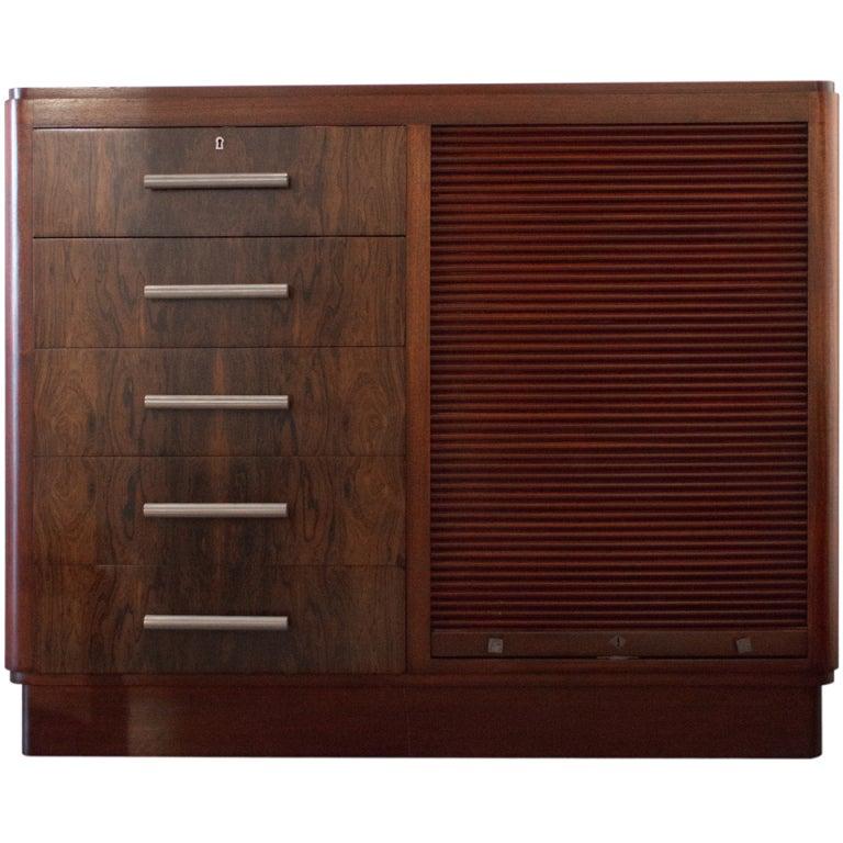Art deco office cabinet at 1stdibs for Sideboard lindholm