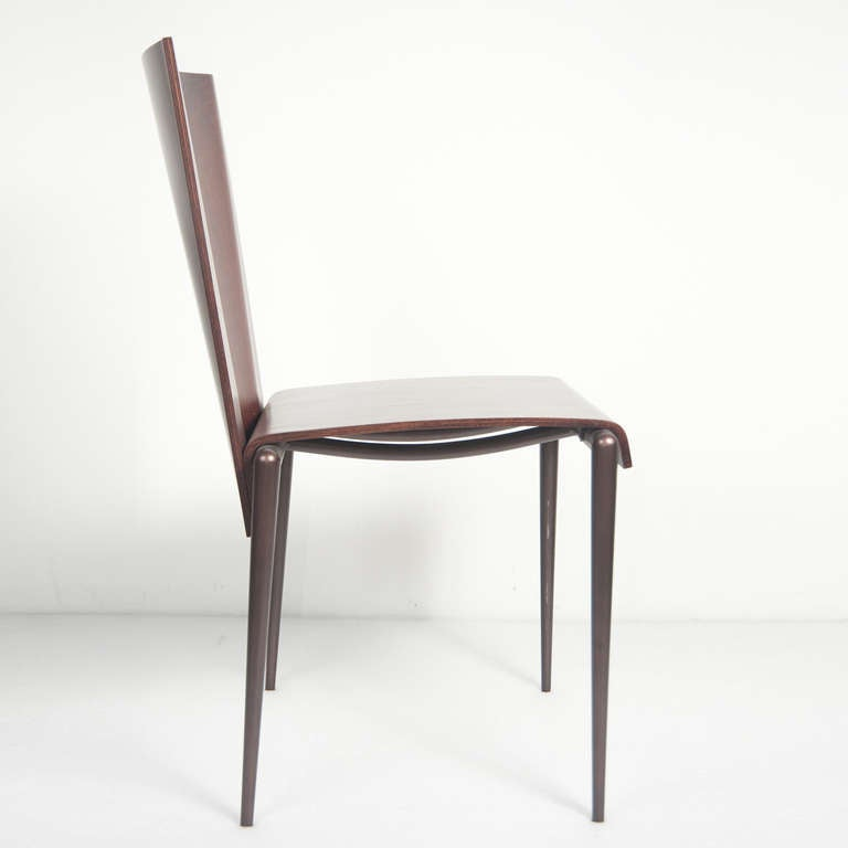 A set of 6 philippe starck style 1980 39 s chairs at 1stdibs for Philippe starck style