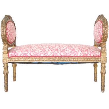 Louis XVI Style Window Bench