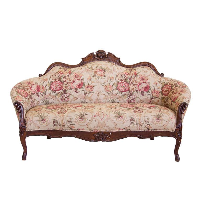 Queen Ann Style Ralph Lauren Upholstered Settee At 1stdibs