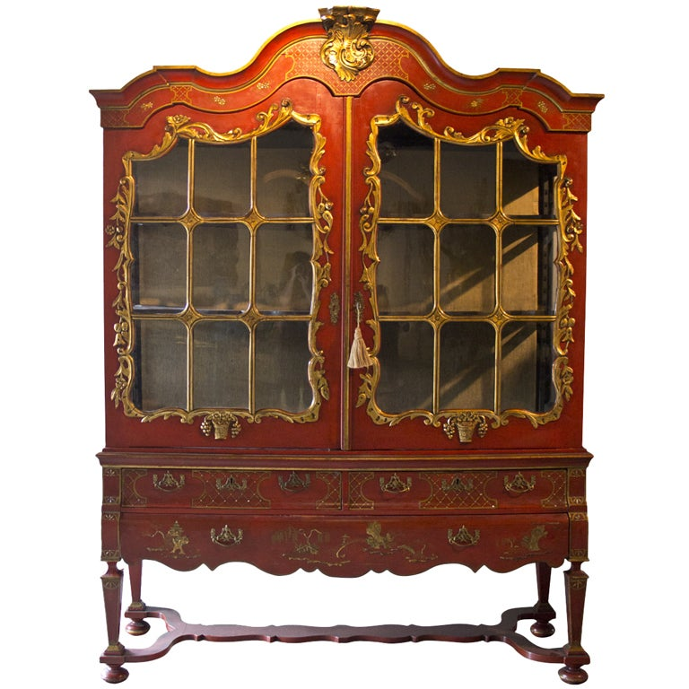 Dutch Chinoiserie Cabinet At 1stdibs