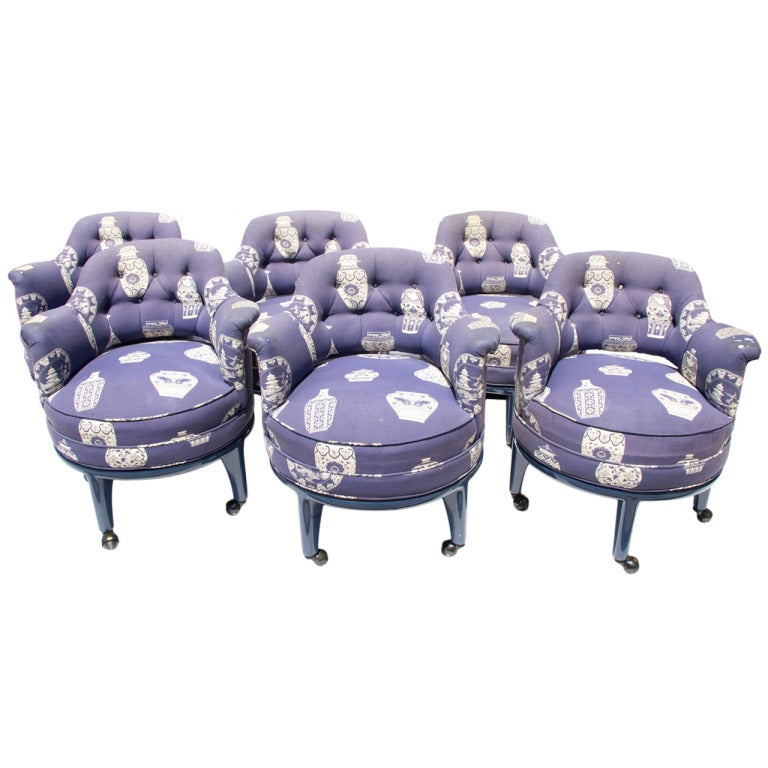 A Set Of 6 Monteverdi Young Dining Chairs On Wheels At 1stdibs