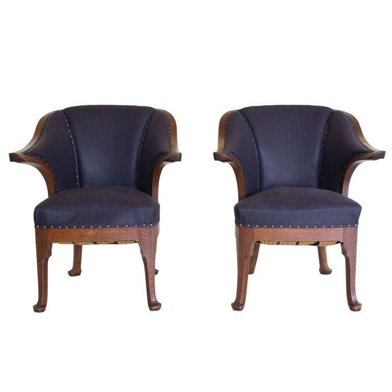 Gentlemens Chairs By Henry Van De Velde At 1stdibs