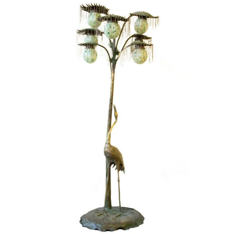 Bronze Art Nouveau Floor Lamp At 1stdibs